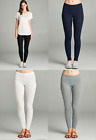 Basic Full-length Cotton Spandex Stretch Leggings Yoga Active Pants
