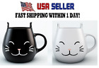 Cat Mug Coffee Cup Cute Gift Idea For Cat Lovers Kids Meow WHITE or BLACK