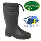 Stormwells Wellington Boots Tie Top Water Resistant Polar Thermal Lined Wellies