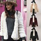 Women's Designer Real Knit Rabbit Fur Cardigan Coat Jacket Nature Cardigan Chic