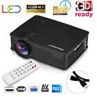 7000Lumen HD 1080P LED Video Home Projector 3D for Iphone Androi Or 100'' Screen