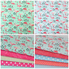 Tropical flamingos fabrics & bundles 100% cotton fabric for sewing & craft