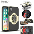 iPaky Ring Kickstand Magnetic Car Air Vent Holder Cover case For iPhone X