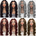 Women Long Middle Part Shaggy Big Wavy Synthetic Wig NATURAL BLACK 4 COLORS