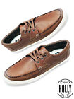Mens Boat Shoe Comfort Leather Fashion Sneaker Holly Shoes STR010A