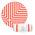 Round Beach Towel in Red stripes, Microfiber Picnic Mat, Ext