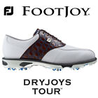FOOTJOY DRYJOYS TOUR GOLF SHOES 53686K WHITE/ BROWN
