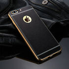 For iPhone 7 6S Plus Luxury TPU Slim Soft PU Leather Case Bumper Cover for Man