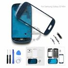Full Housing Frame Front Glass Tools For Samsung Galaxy S3 Mini i8190 White Blue