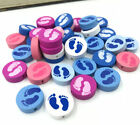 Round Loose Beads Foot footprint For  jewelry making Spacer Wood Beads 20mm