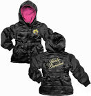Harley-Davidson Girls Youth Quilted Black Hooded Jacket with Polar Fleece Lining $19.99 USD