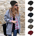 Unisex Stretch Cable Knit Lined Thick Warm Winter Wool Slouchy Beanie Hat Cap