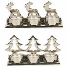 Straits Christmas Metal Tea Light Holders 16973