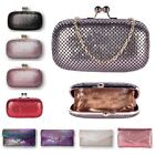 New Womens Chainmail Clutch Bag Ladies Evening Bag Free UK Delivery
