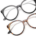 Ladies Oversized Round Clear Lens Glasses Girl Geek Nerd Geeky 1960s