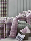 NEXT Bedding – Heather Norway Check Bed Set, Duvet cover & Pillow, Double, King