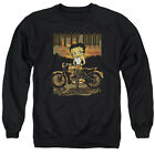 BETTY BOOP REBEL RIDER Licensed Adult Pullover Crewneck Sweatshirt SM-3XL $33.96 USD on eBay