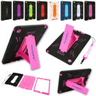 For Apple Ipad 234/mini123/air 12 Kids Shockproof Heavy Cover + Kickstand Case