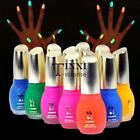 New 12 Colors 15ml Fluorescent Neon Nail Art Polish Glow in Dark Nail TXSU