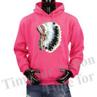 Native American Indian Headdress Mountain Tribe Folk Spirit Pullover Hoodie.