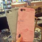 New PC Faux Rabbit Fur Body Skin Mobile Phone Shell Apple Protector for Apple