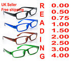 Set 4xSlim Reading Glasses from 0.00 to 4.00 Unisex Trendy Designer Spring Geek