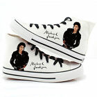 Michael Jackson Canvas Shoes Hand-Painted Punk Rock Lovers Casual Sneakers
