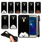 "For Asus ZenFone 3 Laser ZC551KL 5.5"" Dog Skins Black SILICONE Case Cover + Pen"