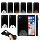 """For Apple iPhone X 5.8"""" Dog Skins Design TPU Black SILICONE Case Cover + Pen"""