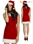 Ladies Fever Sexy Miss Santa Fancy Dress Costume Mrs Claus Adult Womens