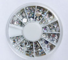 Nail Art Wheel 3D Rhinestone Glitter Gems Decoration Crystals Pearls <br/> **UK SELLER**  38 different wheels to choose from