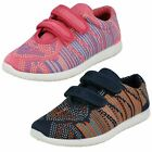 Girls Kettal Hook & Loop Pink Mesh Casual Shoes - H2443