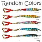 1 to 50pcs Fishing Random Color 1.75oz 50g Hard Fish Speed Knife Jig Lures New