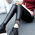 Usa Winter Warm Womens Leggings Thickening Faux Leather High Waist Pencil Pants