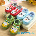 Baby Socks Shoes Newborn Infant Toddler Kids Unisex Cartoon Boots Leather Soles