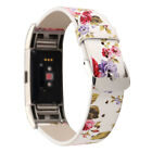 Retro Pattern Leather Strap Replacement Watch Band For Fitbit Charge 2 Hot Sale