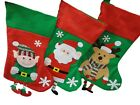 Personalised Cute Christmas stocking, choice of Santa, Elf, Reindeer