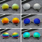 Retro gothic glasses sunglasses men UV steampunk mirror vintage round circle
