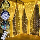 LED String Copper Wire Fairy Lights 110V Xmas Tree Party Decor Curtain Lamp USA