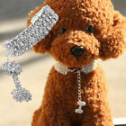 USA Pet Rhinestone Dog Cat Puppy Collar Crystal-Necklace Bling Supplies S/M/L