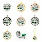 25mm Tree of life Essential oil Aroma Perfume Diffuser Lockets Pendant 4 Colors