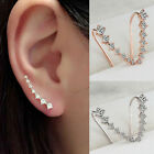 New Punk Jock Jhinestone ear cuff wrap earring Silver piercing ear cartilage BH
