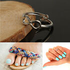 Fashion Women Simple Retro Infinity Design Adjustable Toe Ring Foot Jewelry BH
