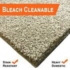 Bleach Cleanable Soft Saxony BEIGE Carpet Hessian Back FREE Underlay £10sm