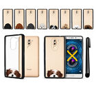 "For Huawei Honor 6X Mate 9 Lite 5.5"" Dog Designs Black Bumper Case Cover + Pen"