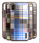 high end cell phone cases - Fits Apple iPhone X Case Ultra-Slim High-End Plaid Protector Hybrid Cover