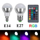 E27/E14 LED RGB Bulb Lamp AC110V 220V 5W LED RGB Spot Light with Remote Control