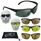 Sport Reader BIFOCAL Sunglasses Cycling Golf Yellow Clear Grey Lenses 1.5 - 3.0