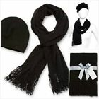 Mixit Women's Set Chenille Beanie, Hat and Scarf with Fringe, New $30