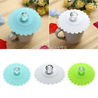 Leakproof Coffee Mug Suction Lid Cap Sealed Cup Cover Airtight 6 Colors Lace